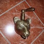 Маскарон «Медведь» с деревянной ручкой