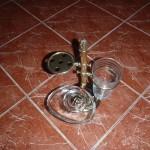 Набір для ванної кімнати — мильниця, склянка, зубні щітки