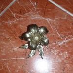 Подсвечник «Лилия» золото